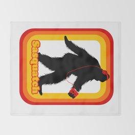Retro Sasquatch Throw Blanket