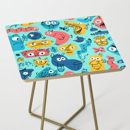 Colorful Character Shapes Side Table