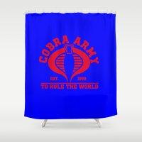 army Shower Curtains featuring Cobra army by CarloJ1956