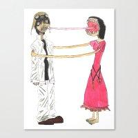 gorillaz Canvas Prints featuring Lick Me by Maison Mendoza