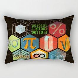 Math Game in black Rectangular Pillow