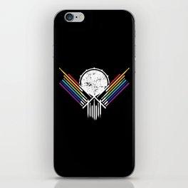 Artsy Drummer Skull iPhone Skin