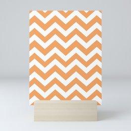 Sandy brown - pink color - Zigzag Chevron Pattern Mini Art Print