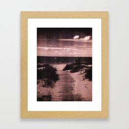 Vintage Beach Vista Framed Art Print