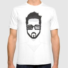 Hipster White SMALL Mens Fitted Tee