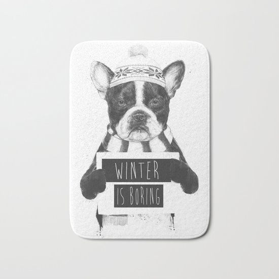 Winter is boring Bath Mat