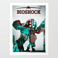 bioshock Art Prints featuring BioShock by Sheloner.