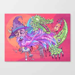 Wi$ard Gator Canvas Print