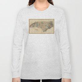 Vintage Map of North Carolina (1823) Long Sleeve T-shirt