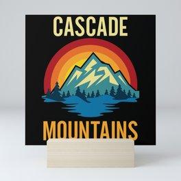Cascade Mountains Sunset Mini Art Print