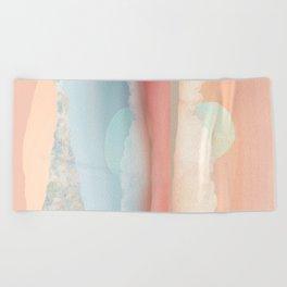 Mint Moon Beach Beach Towel