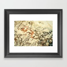 Vintage bush in the Snow Framed Art Print