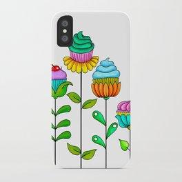 Cupcake Flowers iPhone Case