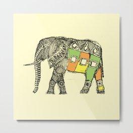 African Elephant Sketch  Metal Print