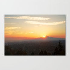 Autumn Sunrise Over Portland Canvas Print
