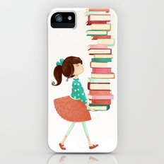 Library Girl Slim Case iPhone (5, 5s)