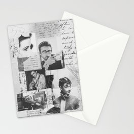 Creative Portrait Collage of 1950's Icons Stationery Cards
