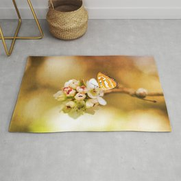 Blooms and Butterflies Rug