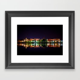 Fredericton at Night Framed Art Print