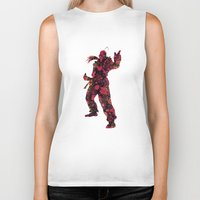street fighter Biker Tanks featuring Street Fighter Dan by vanityfacade