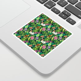 Tropical Lush Sanctuary, A Bohemian Paradise Sticker