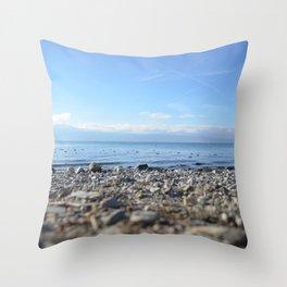 Rocky Beach Descent Throw Pillow