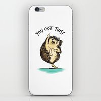 motivational iPhone & iPod Skins featuring Motivational Hedgehog by Samantha DeLuca