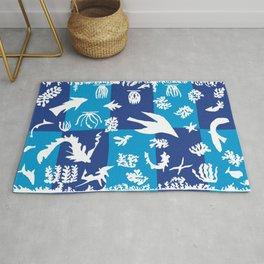 Matisse Cut Out Collage - Seascape Rug