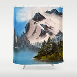 Glacial Peaks Shower Curtain