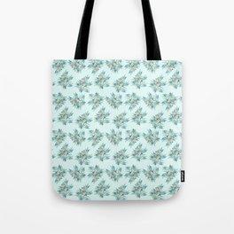 Gumnuts, Blue Green Terracotta on Eggshell Blue Tote Bag