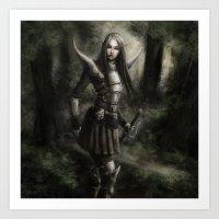 elf Art Prints featuring Elf by Gyossaith