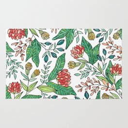 Wildflower Pattern - Full Color Rug