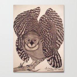 Owl The Native Messenger Canvas Print