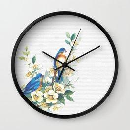 Floral Birds Wall Clock