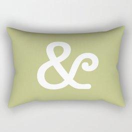 Ampersand Pistachio Rectangular Pillow