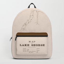 1853 Map of Lake George (sepia) Backpack