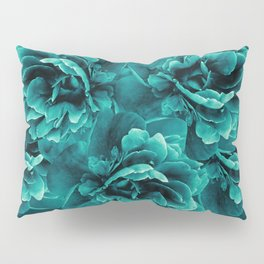 Turquoise Peony Flower Bouquet #1 #floral #decor #art #society6 Pillow Sham
