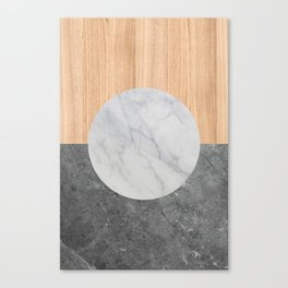 Abstract - Marble and Wood Canvas Print