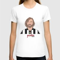 pirlo T-shirts featuring ANDREA PIRLO - JUVENTUS by THE CHAMPION'S LEAGUE'S CHAMPIONS