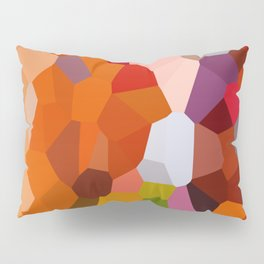 Pixelated Lanterns in Joy and Orange Pillow Sham
