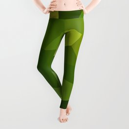 Green and pointy grow the pixel leaves Leggings