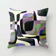 Mid Century Abstract 2 Throw Pillow