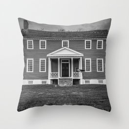 Ellwood Manor Black and White Throw Pillow