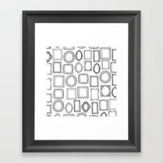 picture frames mono Framed Art Print