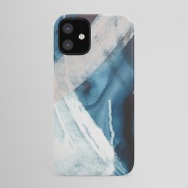 Forward: a pretty minimal abstract piece in pink blue and white by Alyssa Hamilton Art iPhone Case