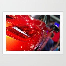 Peugeot RCZ Back Red Light Art Print