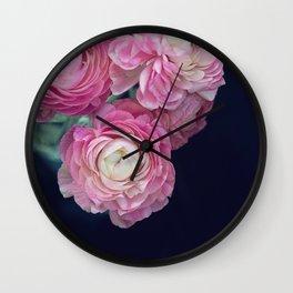 pink on black Wall Clock