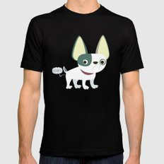 Frenchie Black Mens Fitted Tee MEDIUM