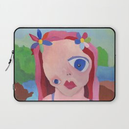 Mona Lisa Gets a Makeover Laptop Sleeve