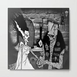 BRIDE OF FRANKENSTEIN TRIBUTE Metal Print